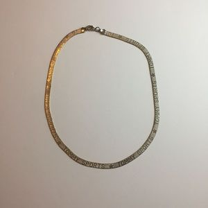 #1089 Tommy Sport Silver Herring Bone  Necklace